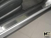 Накладки на пороги Nissan TEANA 2007- / Ниссан Теана premium Nataniko, фото 1