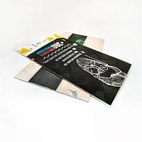 Визитка цветная двухсторонняя очень плотная, с бархатистым матовым покрытием, эффект пластика 450 г/м.кв