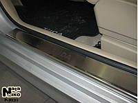 Накладки на пороги Nissan TIIDA 2007- / Ниссан Тайда premium Nataniko, фото 1