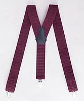 Мужские подтяжки бордовые для брюк, фото 1