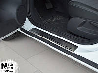 Накладки на пороги Opel CORSA D 5D 2006- / Опель Корса premium Nataniko, фото 1