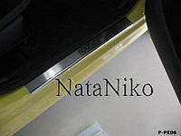 Накладки на пороги Peugeot 107 5D 2005- / Пежо 107 premium Nataniko, фото 1