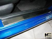 Накладки на пороги Peugeot 206 5D / 206+ 5D 1998- / 2009- / Пежо 206 premium Nataniko, фото 1