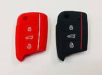 Силиконовый чехол на ключ Volkswagen Golf 7
