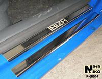 Накладки на пороги Seat IBIZA III 5D 2002-2008 / Сеат Ибица premium Nataniko, фото 1