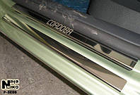 Накладки на пороги Seat CORDOBA III 5D 2003-2009 / Сеат Кордоба premium Nataniko, фото 1