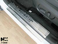 Накладки на пороги Subaru FORESTER IV 2013- / Субару Форестер premium Nataniko, фото 1