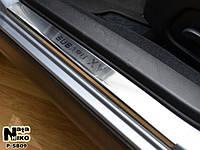 Накладки на пороги Subaru XV 2012- / Субару Иксви premium Nataniko, фото 1