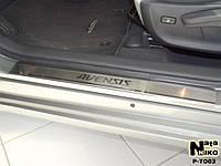 Накладки на пороги Toyota AVENSIS III 2009- / Тойота Авенсис premium Nataniko, фото 1