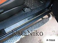 Накладки на пороги Toyota FJ CRUISER 2007- / Тойота Крузер premium Nataniko, фото 1