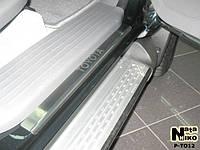 Накладки на пороги Toyota HILUX II 4D 2005- / Тойота Хайлюкс premium Nataniko, фото 1