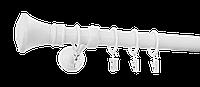 Карниз одинарный длина 240мм диаметр 25мм цвет белый