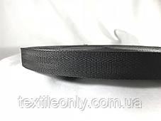 Тесьма сумочная ёлка цвет черный 25 мм, фото 3
