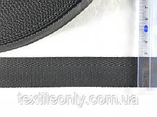 Тесьма сумочная ёлка цвет черный 25 мм, фото 2