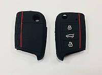 Силіконовий чохол на ключ Volkswagen Golf 7 чорний