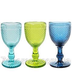Набор 6 бокалов из цветного стекла Аврора 150 мл