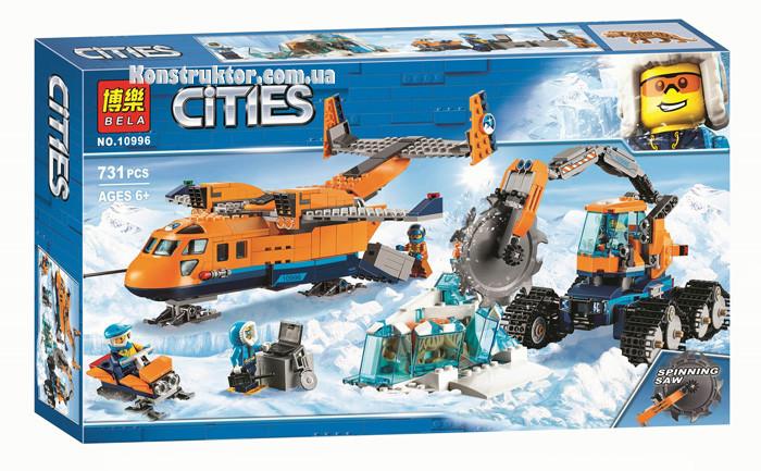 """Конструктор Bela 10996 City """"Арктический грузовой самолёт"""", 731 деталей. Аналог Lego City 60196"""