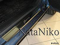Накладки на пороги Fiat GRANDE PUNTO 5D / PUNTO EVO 5D 2005-2009 / 2009- / Фиат Пунто premium Nataniko, фото 1