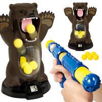 Детская игрушка. Пистолет с мишенью в виде медведя