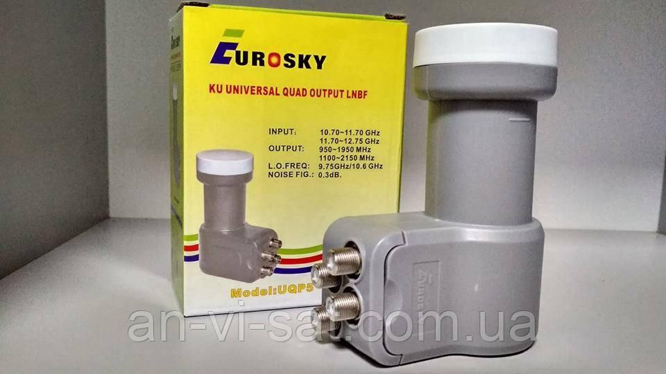 Супутниковий конвертор Eurosky UQP5 Quad