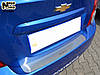 Накладка на бампер Chevrolet AVEO III 4D 2011- / Шевролет Авео  Nataniko