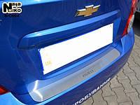 Накладка на бампер Chevrolet AVEO III 4D 2011- / Шевролет Авео  Nataniko, фото 1