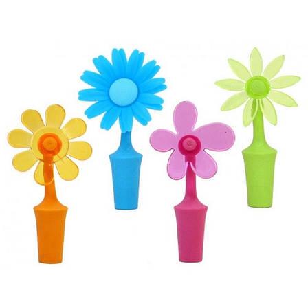 Пробка для бутылки, цветок, голубой, фото 2