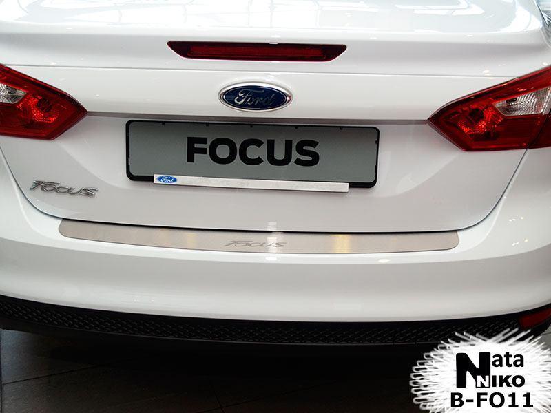 Накладка на бампер Ford FOCUS III 4D 2011- / Форд Фокус Nataniko, фото 1