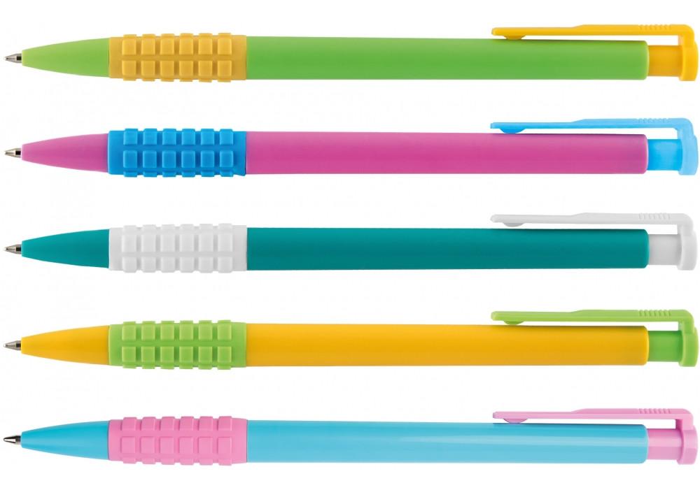 Ручка шариковая автоматическая ассорти пишет синим