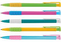Ручка кулькова автомат. Economix MERCURY. Корпус асорті. Пише синім.