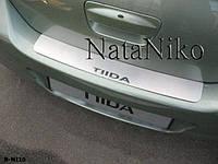 Накладка на бампер Nissan TIIDA 4D 2007- / Ниссан Тайда Nataniko, фото 1
