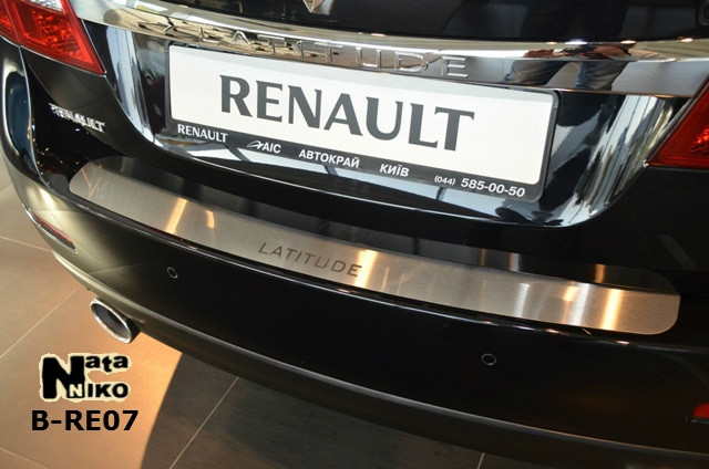 Накладка на бампер Renault LATITUDE 2011- / Рено Латитуде Nataniko, фото 1