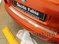 Накладка на бампер Skoda FABIA II 5D 2007- / Шкода Фабиа Nataniko, фото 1