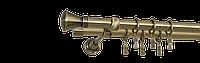Карниз двойной длина 200см диаметр  19/19мм цвет античное золото