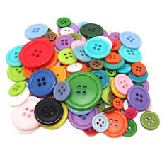 Набор из 50 пластиковых пуговиц разных цветов, 4 дырки, 20мм