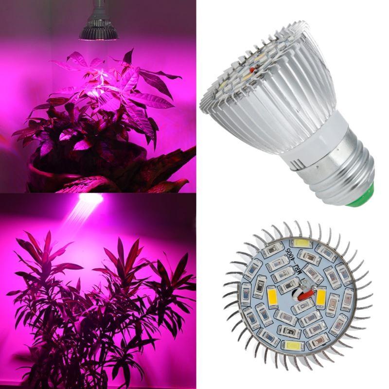 Фитолампа фито лампа для растений, полный спектр E27, 28 LED 8Вт 10.04038