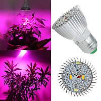 Фитолампа фито лампа для растений, полный спектр E27, 28 LED 8Вт # 10.04038