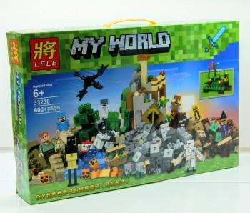 """Конструктор LELE 33230 Minecraft """"Падение башни"""" 600 деталей"""