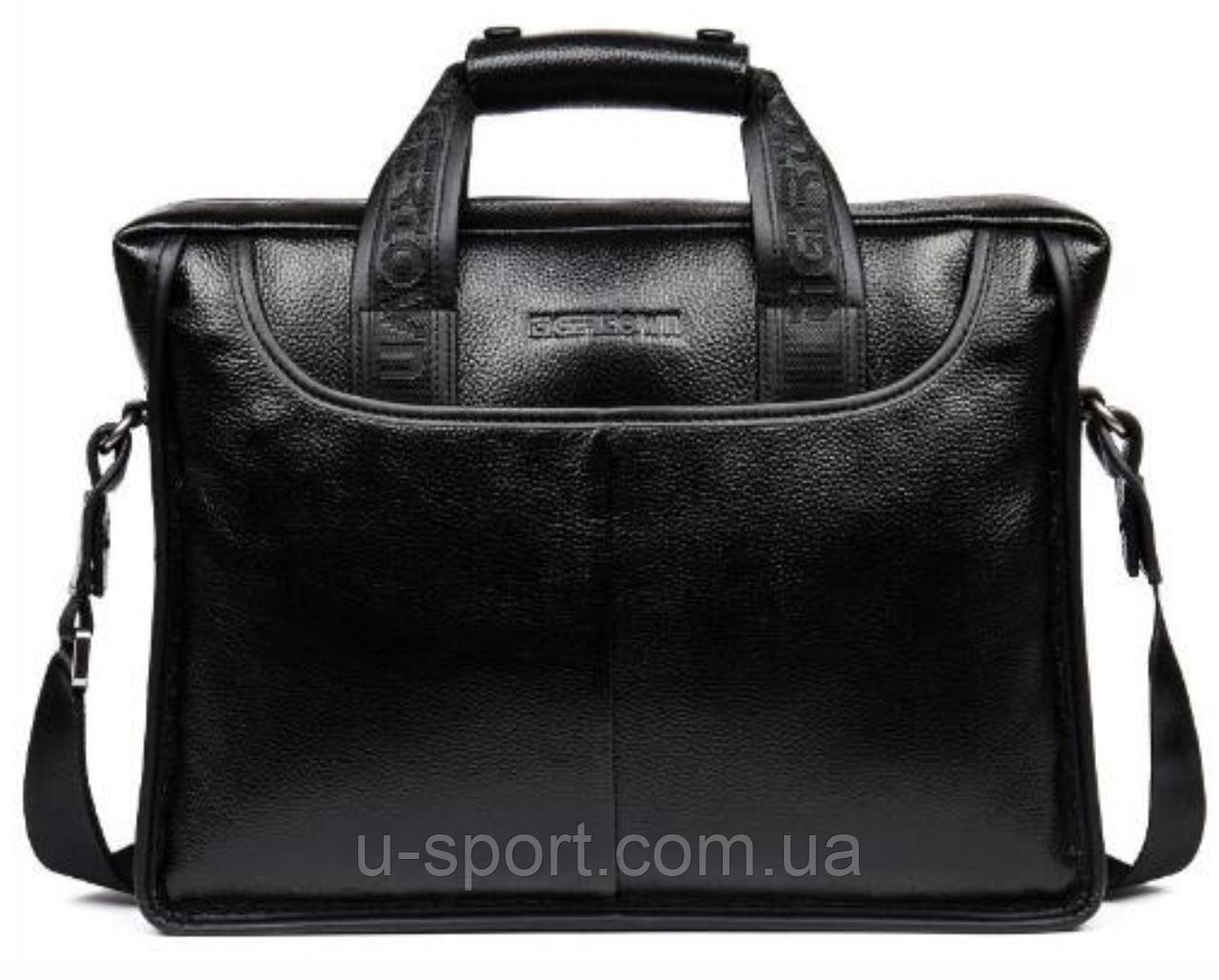 d6567c1cb311 Мужская кожаная сумка Ox Bag TigerTown (черная, натуральная кожа) -  Спортивный интернет-
