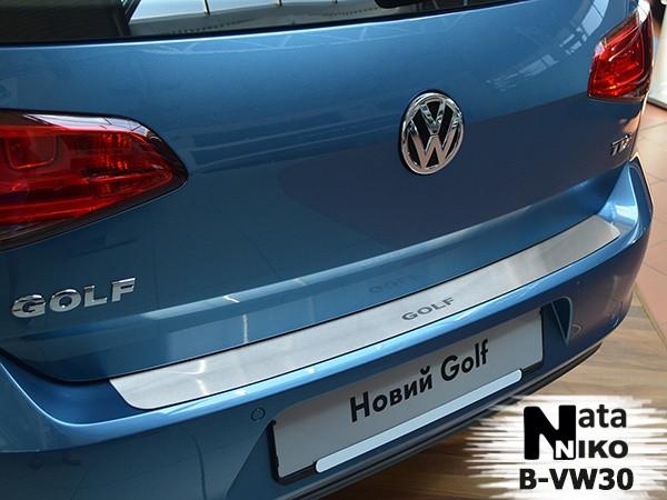 Накладка на бампер Volkswagen GOLF VII 2012- / Фольксваген Гольф Nataniko, фото 1