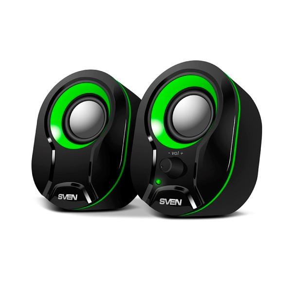 Акустическая система 2.0 SVEN 290 Black-Green