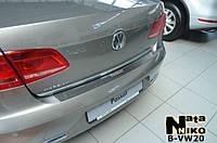 Накладка на бампер Volkswagen PASSAT B7 4D 2010- / Фольксваген Пассат Nataniko, фото 1