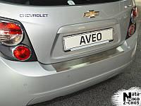 Накладка на бампер  Chevrolet AVEO III 5D 2011- / Шевролет Авео Nataniko, фото 1