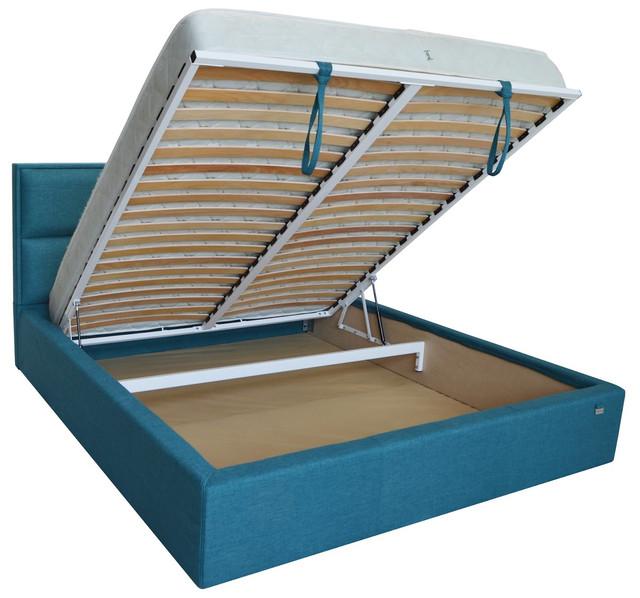 Кровать двуспальная Шеффилд (ткань плаза 96) фото 3