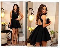 Очаровательное кукольное платье с вырезом на спине Grace XS, Black