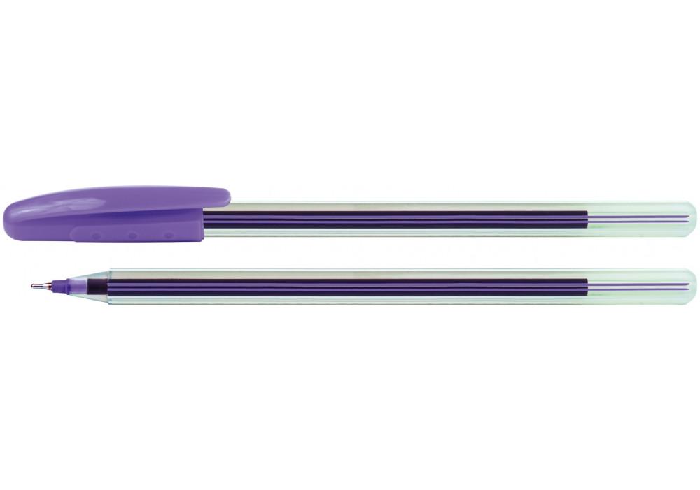Ручка масляная Economix COLIBRI. Корпус ассорти. Пишет синим.