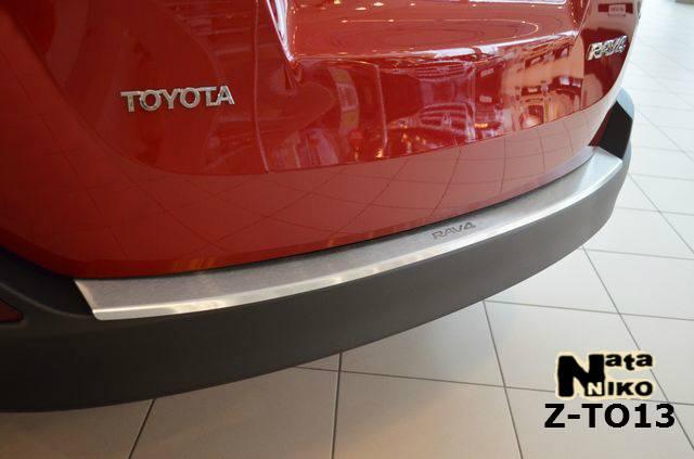 Накладка на бампер  Toyota RAV-4 IV 2013 / Тойота Рав 4 Nataniko, фото 1