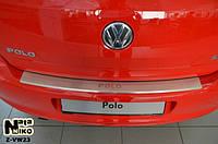 Накладка на бампер  Volkswagen POLO V 5D 2009- / Фольксваген Поло Nataniko, фото 1