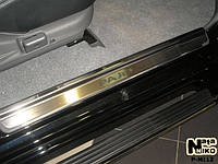 Накладки на пороги Mitsubishi Pajero Sport 2005- premium, фото 1