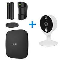 Комплект сигнализации Ajax StarterKit + IP-видеокамера Tecsar Airy TA-1 (черный, белый)